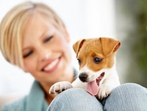 Woman-With-Cute-Puppy
